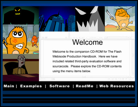Flash Book CD-ROM GUI
